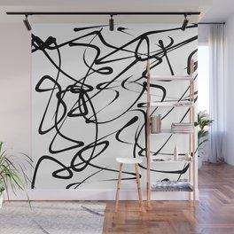 Sensual Impressionism Black And White Brush Art Wall Mural