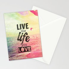 Live Life Love Stationery Cards