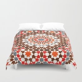 N64 - Traditional Geometric Moroccan Vintage Style Artwork Duvet Cover