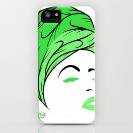 Lady Wrap (green) iPhone Case