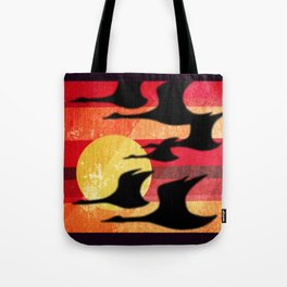 Sunset Migration Tote Bag