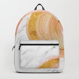 Sunny rose gold marble Backpack