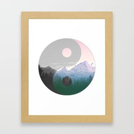 Ying Yang Moutain Nature Framed Art Print