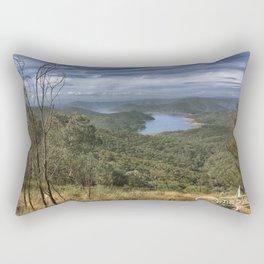 Eildon Lake Mountain View Rectangular Pillow