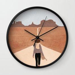Through the Desert Highway IV Wall Clock