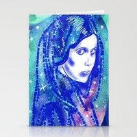 princess leia Stationery Cards featuring Princess Leia by grapeloverarts