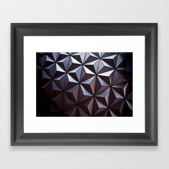 Disney Epcot Texture Pattern Awesome Framed Art Print