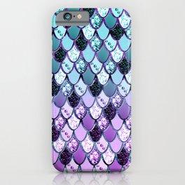 Purple Teal Mermaid Princess Glitter Scales #1 #shiny #decor #art #society6 iPhone Case