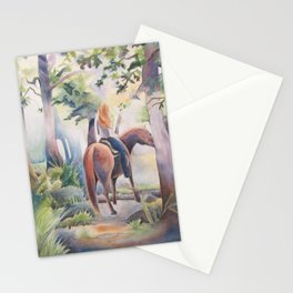 Quiet Woodland Horse Ride Stationery Cards