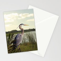 Great Blue Heron in the Bulrushes Stationery Cards