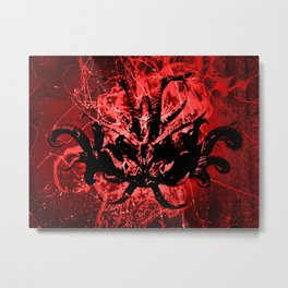 Scary Tribal Mask Metal Print