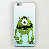 mike wrobel iPhone & iPod Skins featuring Mike by Satanoncrack