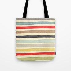Stripes Watercolor Paint Robayre Tote Bag