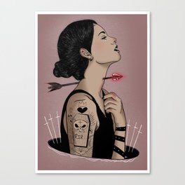 Amour silencio Canvas Print