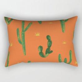 Desert Vibes Orange Rectangular Pillow