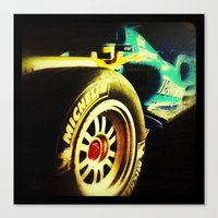 formula 1 Canvas Prints featuring Formula 1 by frenchtoy