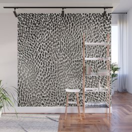 shifting dots in black and white Wall Mural