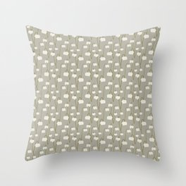 Pitcher Plant Taupe Throw Pillow