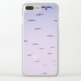 Seagulls & Moon by Murray Bolesta Clear iPhone Case