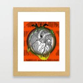 Frida's Heart Framed Art Print