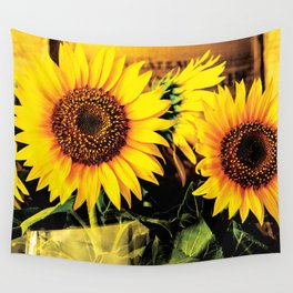 Bunch of Sunflower Wall Tapestry
