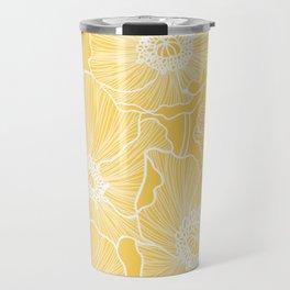 Sunshine Yellow Poppies Travel Mug