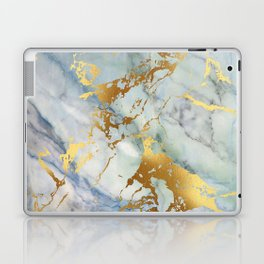 Lovely Marble with Gold Overlay Laptop & iPad Skin