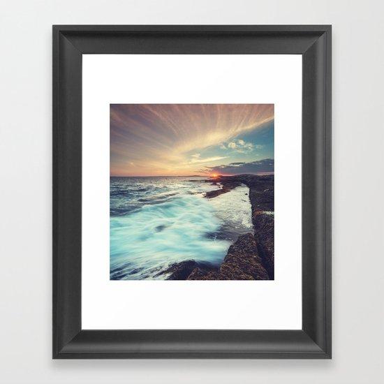Setting over Surf Framed Art Print