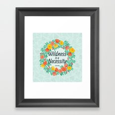 Floral Wildness Framed Art Print
