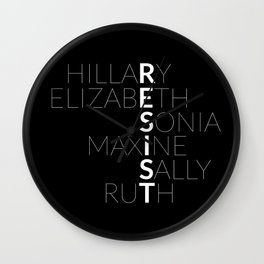 #RESIST: THE WOMEN OF 2017 Wall Clock