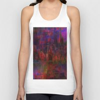 moulin rouge Tank Tops featuring Rouge city by Joe Ganech