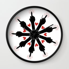 I Love You, But Go Away Wall Clock