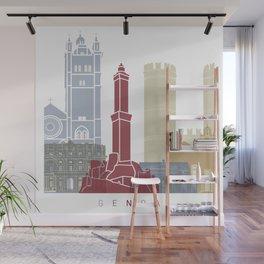 Genoa skyline poster Wall Mural