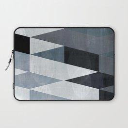 blue abstract, abstract art, office art, contemporary art, geometric print, modern painting, mid cen Laptop Sleeve