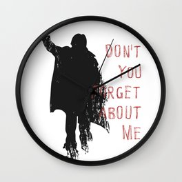 Don't Forget About Me, 1985. Artwork for Wall Art, Prints, Posters, Tshirts, Men, Youth, Women Wall Clock