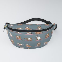 English Bulldog Yoga Fanny Pack