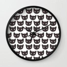 Black Cats // Lots of Black Cats Wall Clock
