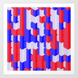 Red Blue White Art Print