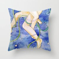tangled Throw Pillows featuring tangled by Beth Jorgensen