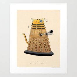 Buffycat: Dalek Disguise Art Print