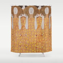 Gustav Klimt Choir of Angels Or Beethoven Frieze Shower Curtain