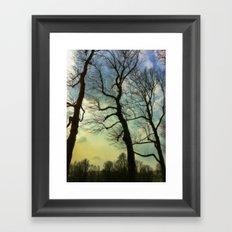 Remembering a winter sky Framed Art Print