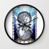aquarius Wall Clocks featuring Aquarius by Caroline Vitelli GOODIES