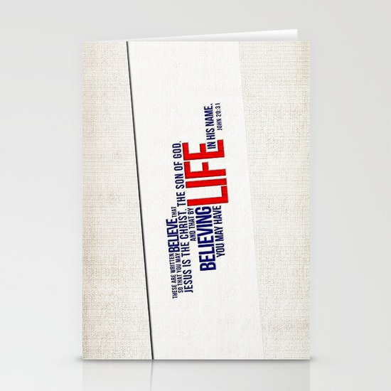 Life in His Name Stationery Cards
