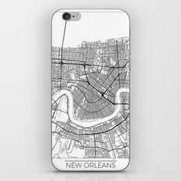 New Orleans Map White iPhone Skin