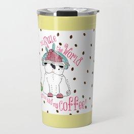 Prima donna Pug Rules the World Travel Mug