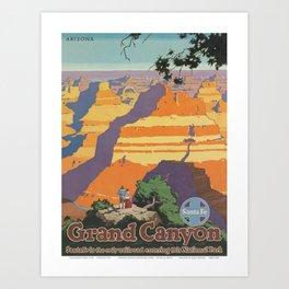 Vintage poster - Grand Canyon Art Print