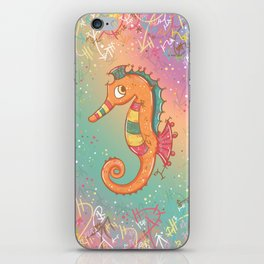 Sparkly Little Seahorse iPhone Skin