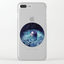 Whirlwind Calm Clear iPhone Case