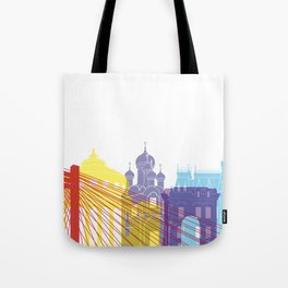 Bucharest skyline pop Tote Bag